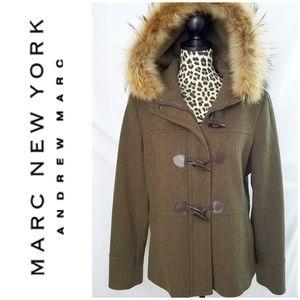 ❄Marc New York Coat w/ Fur Lined Hood